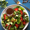 Strawberry Avocado Salad with Sweet Lemon Vinaigrette