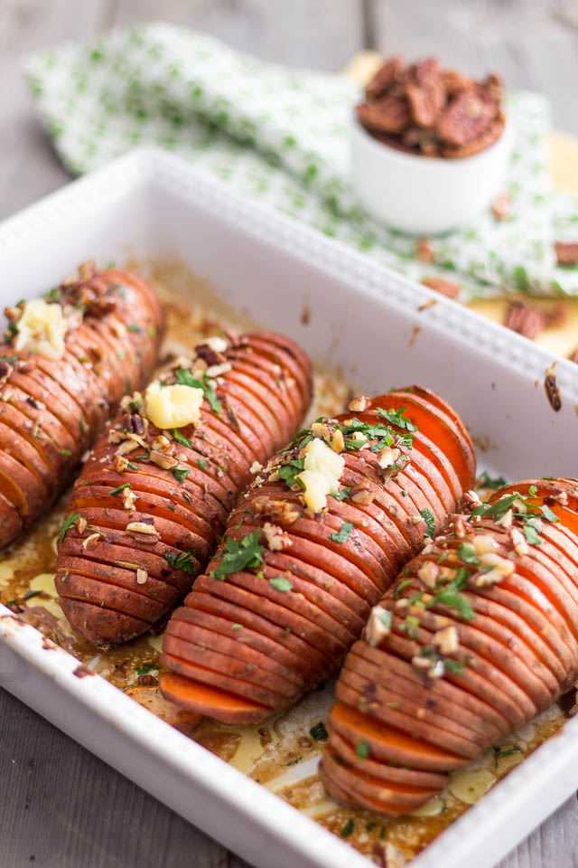 Hasselback Sweet Potatoes | by Sonia! The Healthy Foodie
