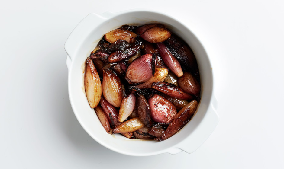 This recipe would also work with small cipolline onions or larger torpedo-shaped shallots.