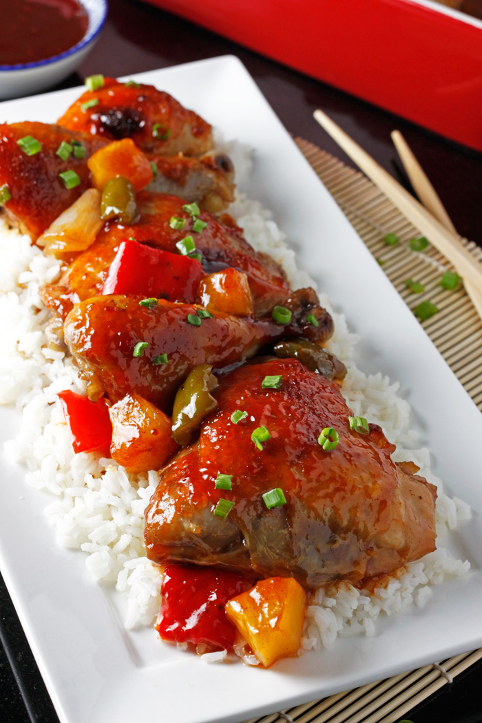 An addictive Chinese takeout favorite without all the fuss! This baked sweet and sour chicken recipe is so easy, so flavorful, and will satisfy all your Chinese food cravings. passthechallah.com