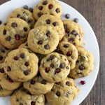 Chocolate Chip Pomegranate Cookies