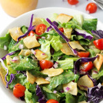 Nish Nosh Salad- This nish nosh salad recipe is utterly addicting. Fresh lettuce, crunchy nish nosh crackers, and a sweet and tangy dressing are the PERFECT marriage. You'll see. passthechallah.com